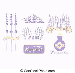 Vintage lavender background, aromatherapy and spa packaging...