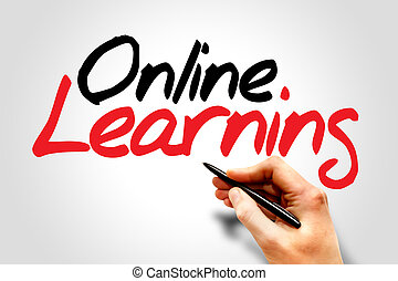 Online Learning - Hand writing Online Learning, business...