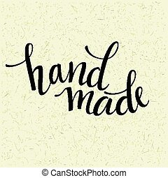 Hand made lettering Vector illustration EPS 10