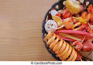 Potpourri - Colorful assorted potpourri in a bowl on a...