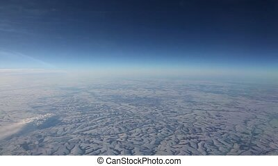 Aerial View landscape from Airplane - Aerial View landscape....