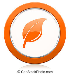 nature orange icon leaf sign