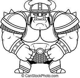 Cartoon Orc Armor - A cartoon illustration of a muscular orc...