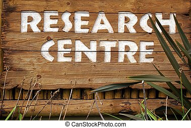 research centre sign