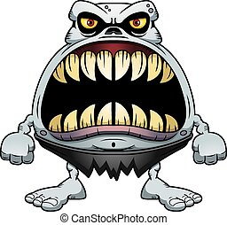 Angry Cartoon Ghoul - A cartoon illustration of a ghoul with...