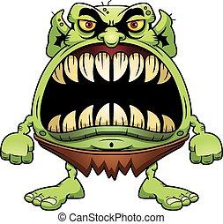 Angry Cartoon Goblin - A cartoon illustration of a goblin...