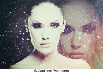 Face of the Universe, abstract science fiction backgrounds