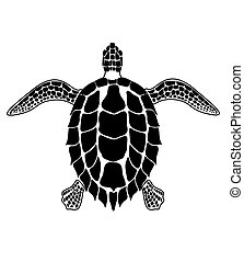 turtle - the abstract image of a turtle