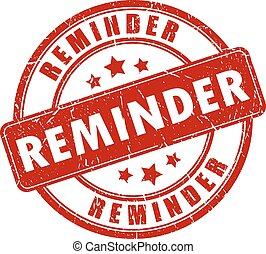 Payment reminder stamp - Payment reminder rubber stamp