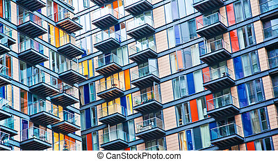 Urban life, densely populated house - Urban life symbol,...