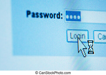 login password on lcd screen macro