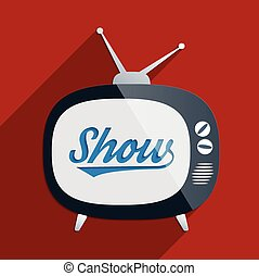 Show - Vintage background with retro TV. Concept for...