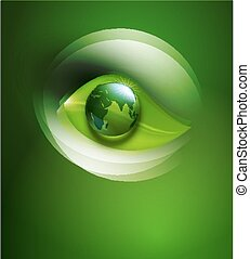 vector abstract background for ecological design with a leaf, a