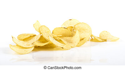 Chips - Image of chips isolated close up.
