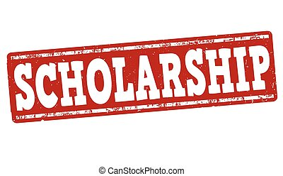 Scholarship stamp - Scholarship grunge rubber stamp on white...