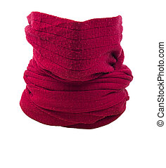 Red scarf - image of red scarf isoleter close up.
