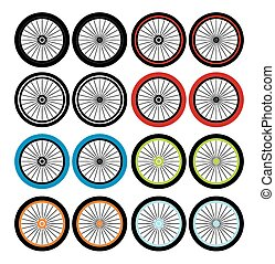bmx wheels - sets - suitable for illustration