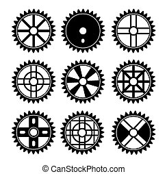 bicycle sprocket - suitable for illustration