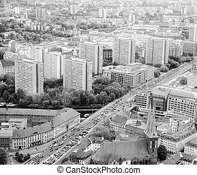Berlin aerial view - Aeria view of the city of Berlin in...