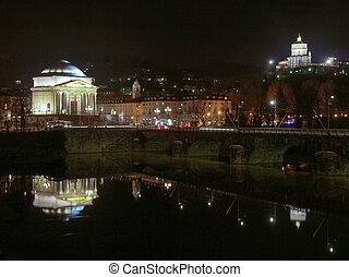 River Po, Turin - Fiume Po (River Po) in Turin, Italy - at...