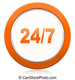 24/7 orange icon
