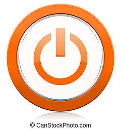 narancs, ikon, el, erő, aláír