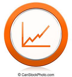 橙, 簽署, 圖表, 圖象, 股票