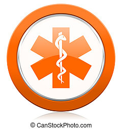 emergency orange icon hospital sign