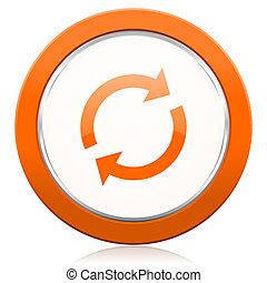 橙,  reload, 圖象, 刷新, 簽署