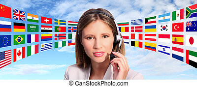 call center operator international contact