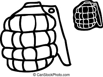 Single Outlined Grenade