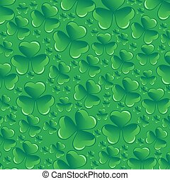 Saint Patricks day pattern, vector