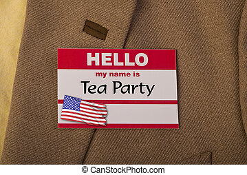 Tea party. - My name is tea party.