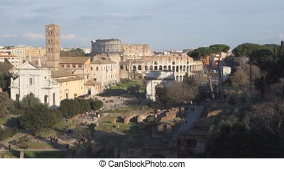 Roman Forum - The ancient via Sacra in the Roman Forum,...