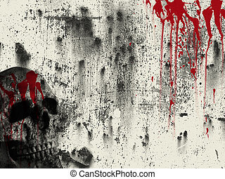 blood background - skull and blood background