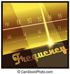 frequency - Stylized vector illustration on the theme radio,...