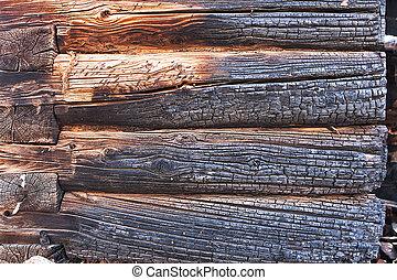 primer plano, quemado, madera, Plano de fondo