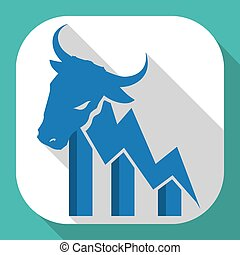 Wall street design, vector illustration. - Wall street...