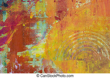 Acrylic painting - acrylic painting, artwork is created and...