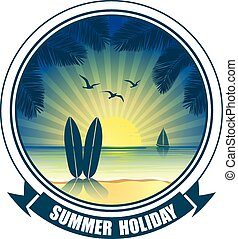 summer banners - summer vacation vector banners with...