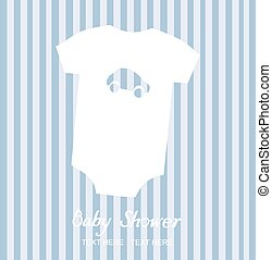 Baby Boy - vector baby shower card
