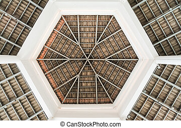 Top roof abstract - The abstract of the top roof radial...