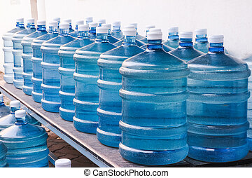 Drinking Water Supply2 - Rows of Big Bottle of Drinking...