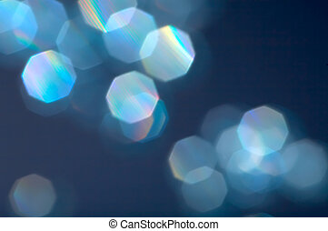 Blue reflexions - Background with reflexions on a dark blue...