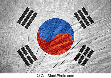 flag of South Korea - South Korea flag or Korean banner on...