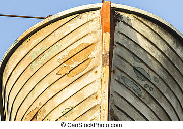 Ship Wooden Rescue Boat - Old ship wooden rescue boat...