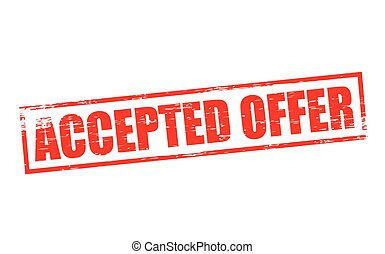 Accepted offer - Rubber stamp with text accepted offer...