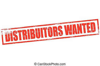 Distributors wanted - Rubber stamp with text distributors...