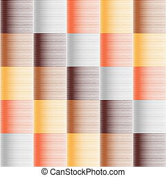 Seamless pattern in warm colors. Hatched texture. - Seamless...