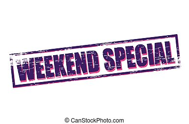 Weekend special - Rubber stamps with text weekend special...